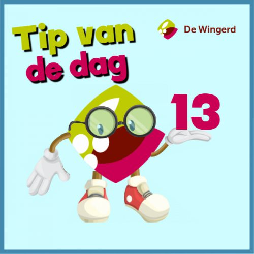 tip van de dag 13 - Made with PosterMyWall