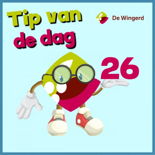 tip van de dag 26 - Made with PosterMyWall